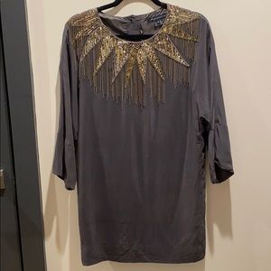 French Connection silk holiday dress- size 4